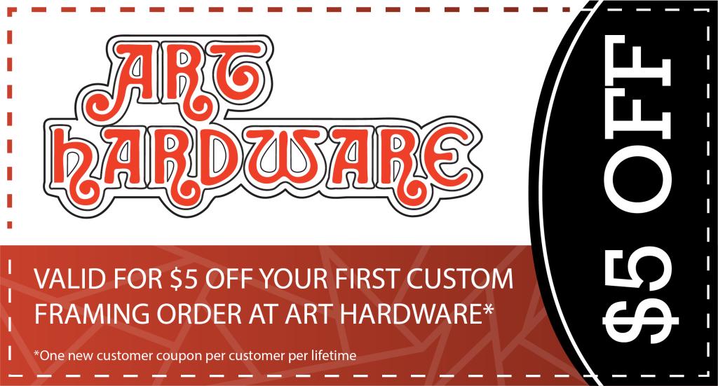 Art Hardware first time coupon